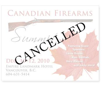 Canadian Firearms Summit CANCELLED!