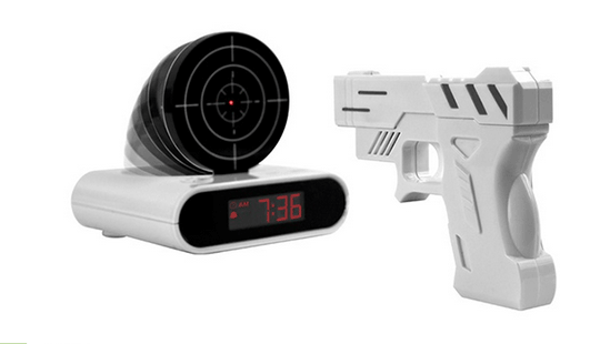 Gun-Terget-Alarm-Clock