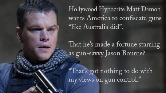 Hollywood Hypocrite Anti-Gunner Matt Damon
