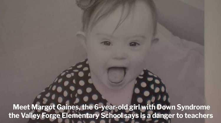 Margo Gaines, a 6-year-old with Downs Syndrome
