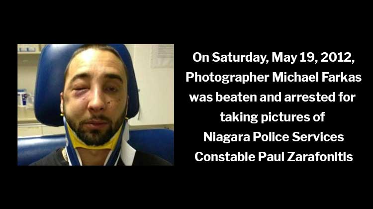 Constable Paul Zarafonitis Photographer Michael Farkas