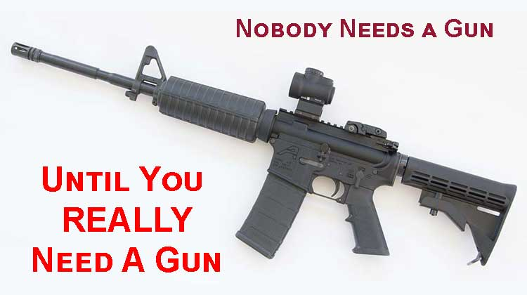 Nobody Needs a Gun Until You Really Need a Gun
