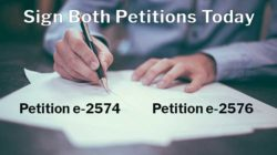 Sign Petition e-2574 and Petition e-2576