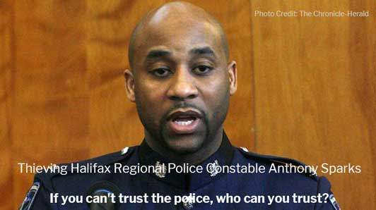 Thieving Halifax Police Constable Anthony George Sparks Sentenced to a Slap on the Wrist
