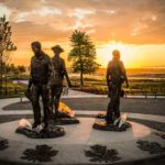 Memorial to slaim RCMP Constables Douglas Larche, Dave Ross and Fabrice Gevaudan