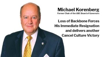 Michael Korenberg Loss of Backbone Forces His Immediate Resignation Delivers Cancel Culture Victory