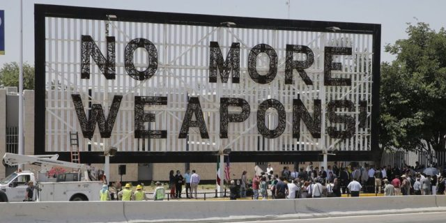No More Weapons Mexican Billboard