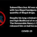 Saheed Bacchus Ali drug dealer with illegal handguns