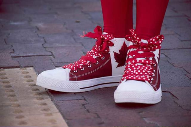 Canada Day Shoes
