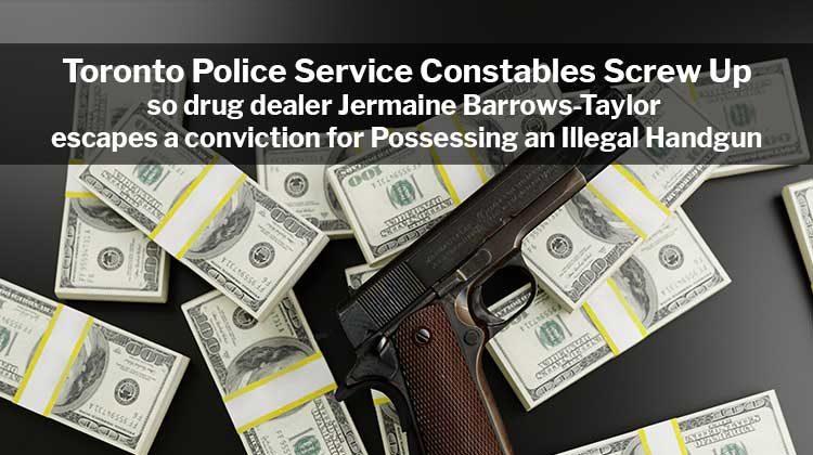 Drug Dealer Jermaine Barrows-Taylor Escapes Illegal Handgun Conviction