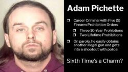 Adam Pichette Despite Five Firearm Prohibtion Orders He Still Gets Another Illegal Gun and Shoots at Police