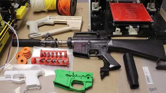 """""""No completed firearms or fully functional 3D-printed firearms were seized from the home."""""""