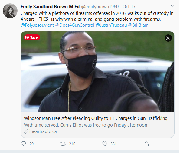 Emily Sandford-Brown Tweet