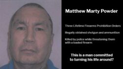 Matthew Marty Powder: Three Lifetime Firearms Prohibition Orders