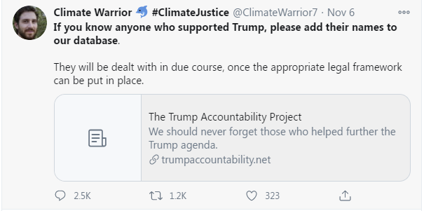 anonymous Twitter coward Climate Warrior