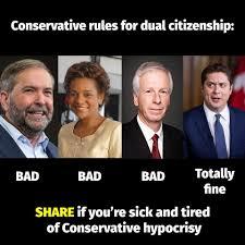 Andrew Scheer Dual Citizenship Hypocrisy