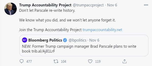 Don't Let Parscale rewrite history
