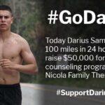 Darius Sam Runs 100 Miles in 24 Hours