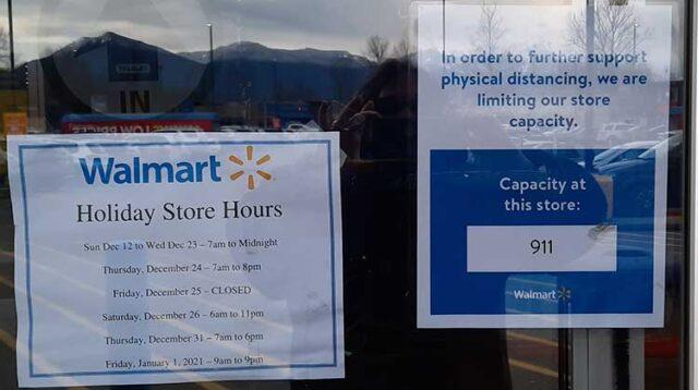 Walmart Store Capacity: 911
