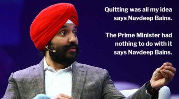 Did Navdeep Bains Quit or did Justin Trudeau Force Him Out?