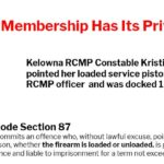RCMP Constable Kristine Roesler Points Loaded Service Pistol at Fellow RCMP Officer