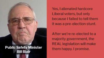 Bill Blair Alienates Liberal Base