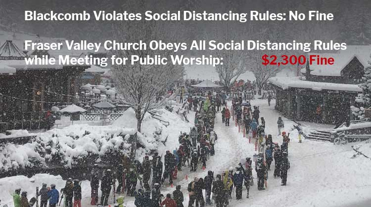 Blackcomb-Whistler Skiers Highlight COVID Enforcement Hypocrisy