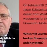 Windsor Drug Dealer Jason Sulatycki busted for violating his Firearm Prohibition Order