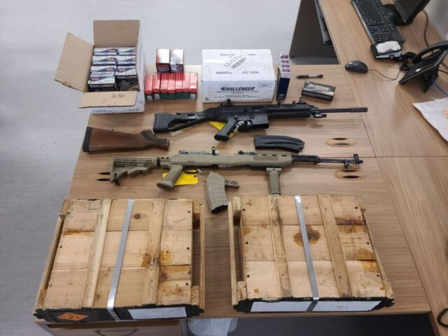 firearms and ammo seized by Orillia OPP