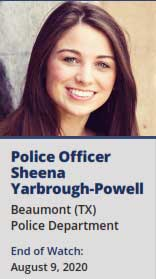 Beaumont Police Department Officer Sheena Yarbrough-Powell