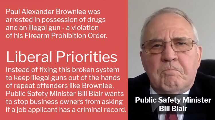 Ontario Drug Dealer Paul Alexander Brownlee Violates Firearm Prohibition Order