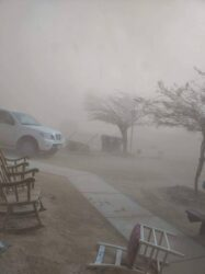 dust storm conditions the afternoon Agent Flores-Bañuelos was struck by a passing motorist