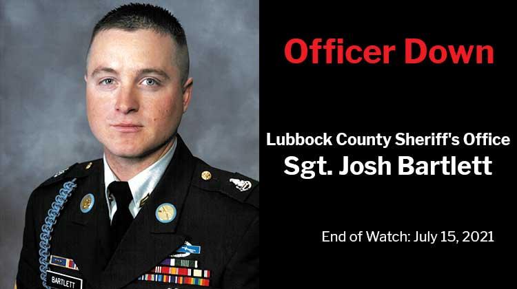 Officer Down: Lubbock County Sheriff's Office Sergeant Josh Bartlett