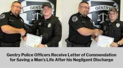 Negligent Discharge: Gentry Police Officers Save Man's Life