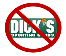 I will never spend a single penny at Dick's Sporting Goods.