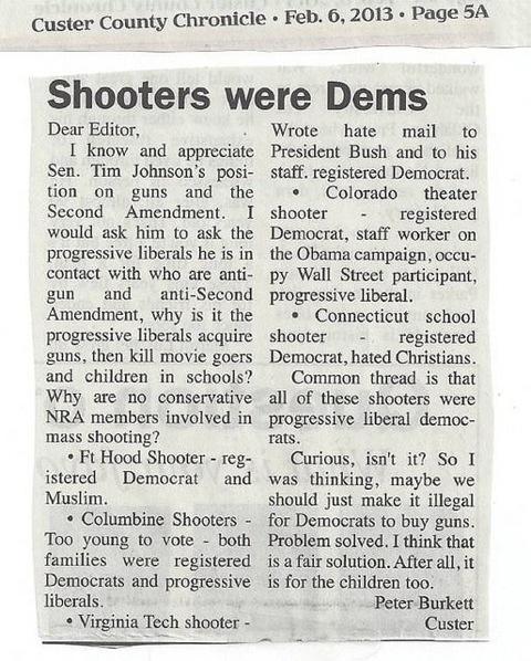 Solve Mass Killings Instantly - Just Ban Democrats